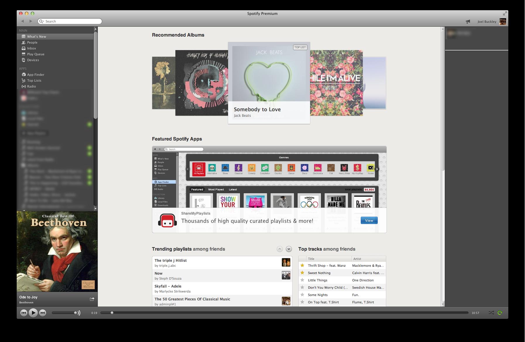 Spotify Main Interface